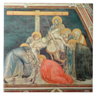 Deposition, c.1320 (fresco) tile