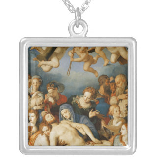 Deposition from the Cross, 1543-45 Square Pendant Necklace