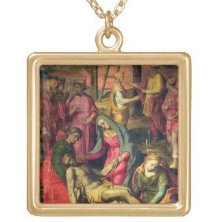 Deposition from the Cross, 1582 (tempera on panel) Gold Plated Necklace