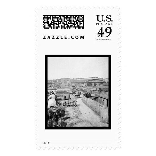 Depósito 1864 del ferrocarril de Atlanta Envio