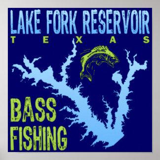 Depósito de la bifurcación del lago, pesca de la l impresiones
