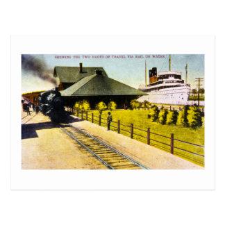 Depósito de la unión en Sault Ste. Marie, Michigan Tarjeta Postal