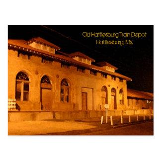 Depósito de tren viejo de Hattiesburg de la postal