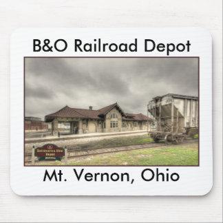 Depósito del ferrocarril de B&O - Mt Vernon oh, fe Tapete De Raton