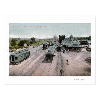 Depósito del ferrocarril de D&R G Tarjetas Postales