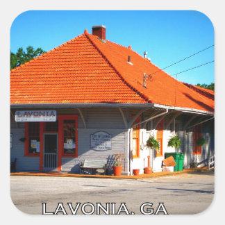 DEPÓSITO - Lavonia, Georgia Pegatina Cuadrada