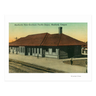 Depósito pacífico meridional del ferrocarril en tarjeta postal