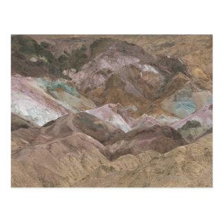 Depósitos minerales coloridos expuestos en el arti tarjetas postales