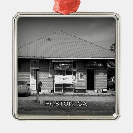 DEPOT - Boston, Georgia Metal Ornament