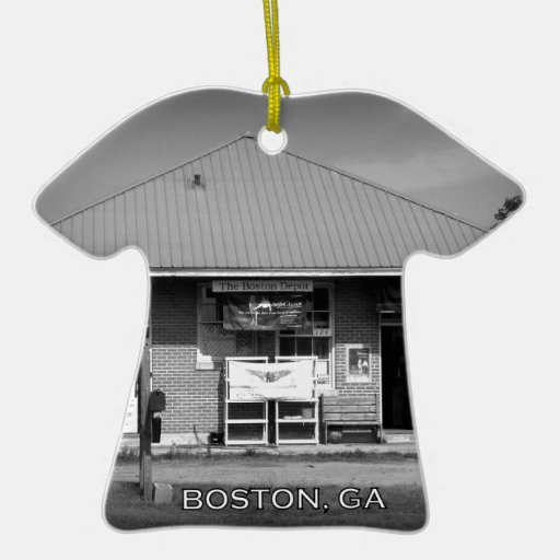 DEPOT - Boston, Georgia Double-Sided T-Shirt Ceramic Christmas Ornament