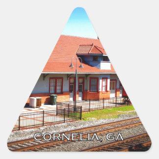 DEPOT - Cornelia, Georgia Triangle Sticker