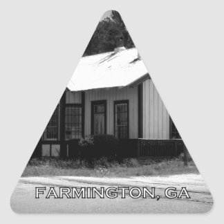 DEPOT - Farmington, Georgia Triangle Sticker