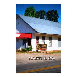 DEPOT - Martin, Georgia Personalized Stationery