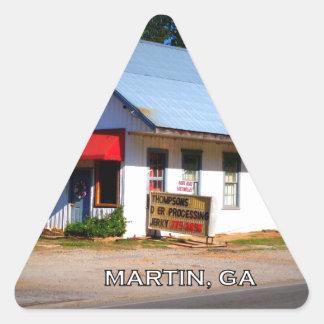 DEPOT - Martin, Georgia Triangle Sticker