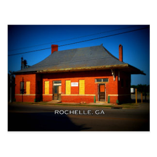 DEPOT - Rochelle, Georgia Postcard