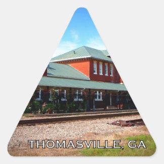 DEPOT - Thomasville, Georgia Triangle Sticker