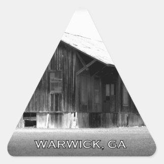 DEPOT - Warwick, Georgia Triangle Sticker
