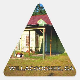DEPOT - Willacoochee, Georgia Triangle Sticker