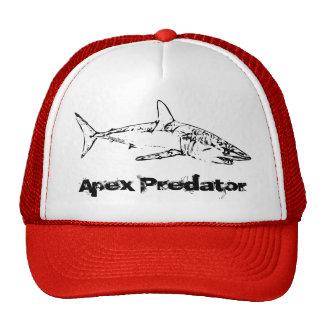 Depredador de Apex del tiburón Gorras De Camionero