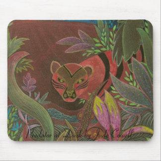 Depredador en el mousepad de la oscuridad alfombrillas de ratones