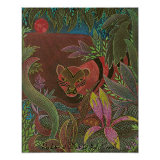 Depredador en el poster del arte de la oscuridad
