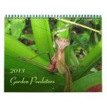 Depredadores 2013 del jardín calendarios