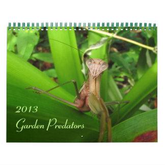 Depredadores 2013 del jardín calendario de pared