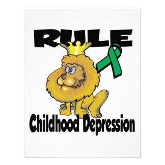 Depresión de la niñez de la regla anuncio personalizado