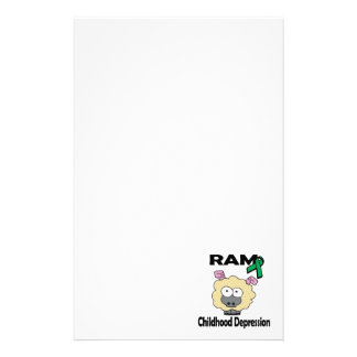 Depresión de la niñez de RAM Papelería Personalizada