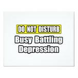 Depresión de lucha ocupada comunicado