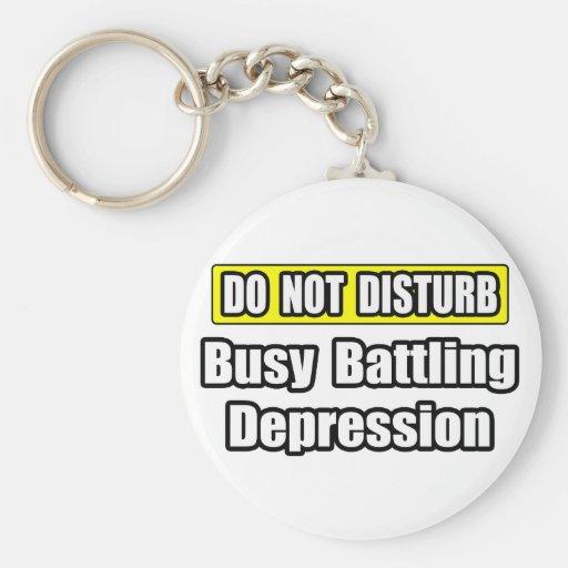 Depresión de lucha ocupada llaveros personalizados