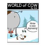 Depresión del invierno tarjeta postal