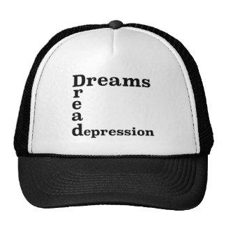Depresión del pavor de los sueños gorro de camionero