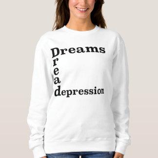 Depresión del pavor de los sueños sudadera