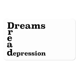 Depresión del pavor de los sueños tarjetas de visita
