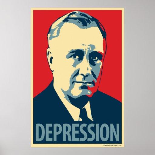 Depresión (FDR): Poster de la parodia de Obama