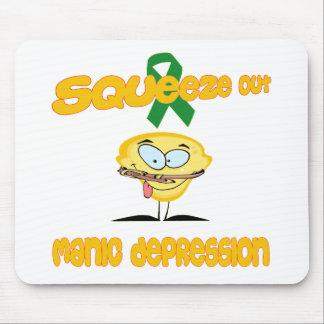 Depresión maníaca alfombrillas de raton