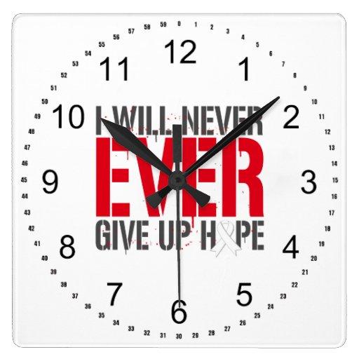 Depresión postparto que daré nunca nunca para arri reloj cuadrado