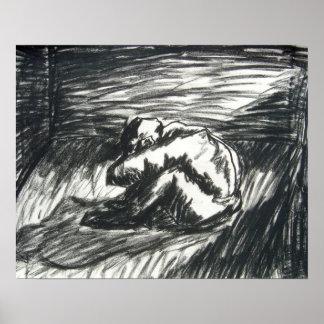 Depresión - solamente en un cuarto oscuro póster