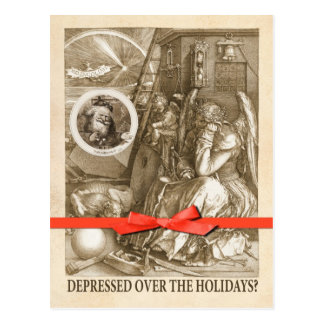Depressed Over the Holidays? Postcard