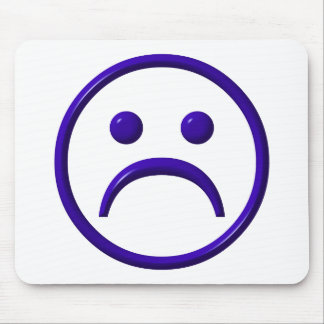 Depressed , Sad & Blue Face Mouse Pad