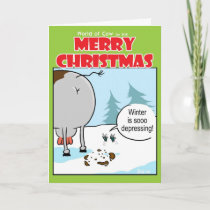 Depressing Winter Holiday Card