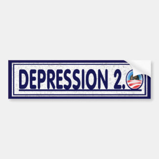 Depression 2.0 Political Economy Funny Bumper Sticker