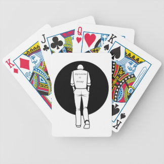 Depression are drilling bicycle playing cards