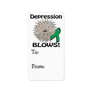 Depression Blows Awareness Design Label