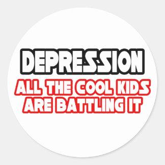 Depression...Cool Kids Classic Round Sticker