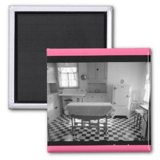 Depression-Era Farm Kitchen 2 Inch Square Magnet
