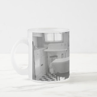 Depression-Era Farm Kitchen Frosted Glass Mug