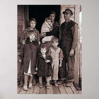 DEPRESSION ERA IOWA  FAMILY  1936 POSTER