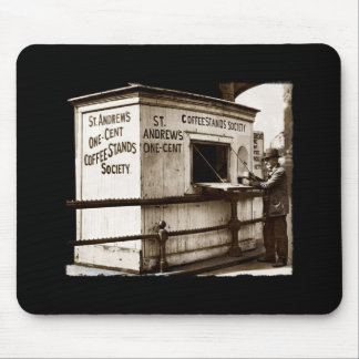 Depression Era One Penny Coffee Stand Mouse Pad